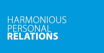 Harmonische Beziehung zu Mitarbeitern