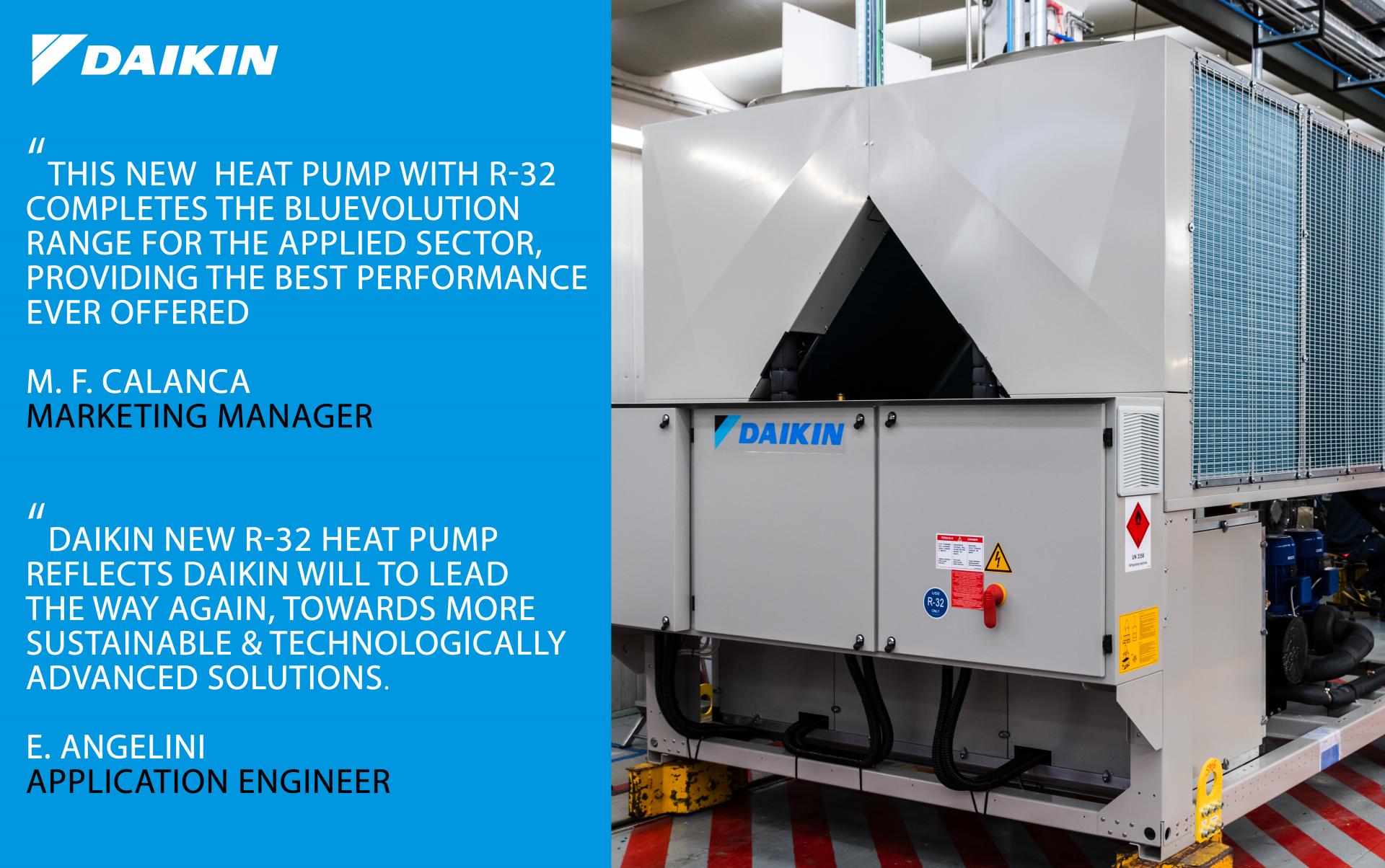 Daikin EWYT-B- R-32 heat pump