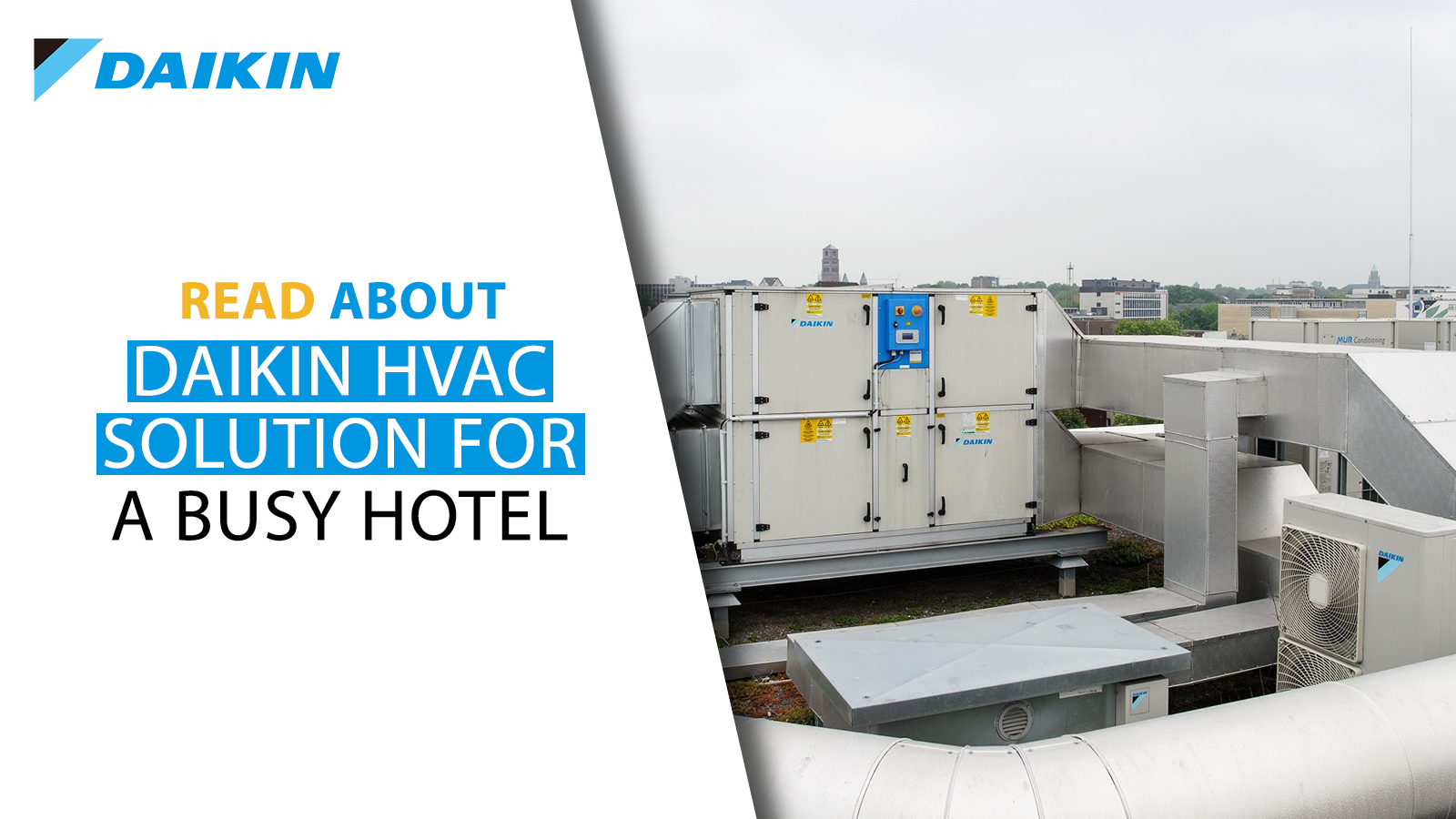 Daikin HVAC solution for a hotel