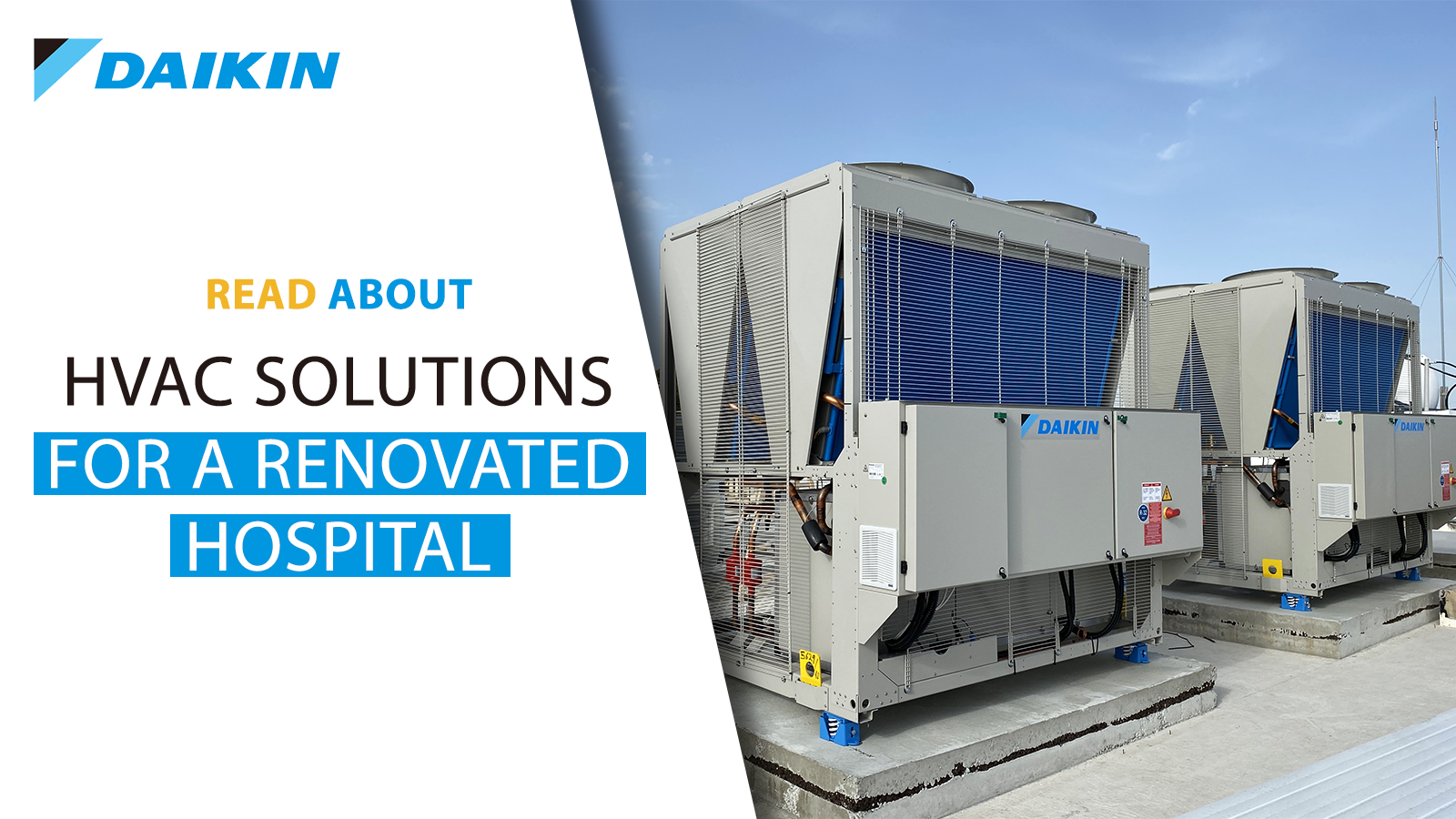HVAC solutions for a renovated hospital