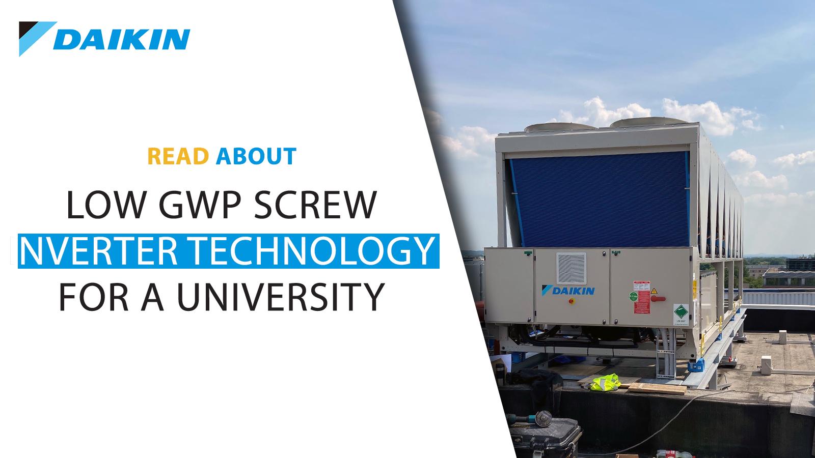 Low GWP screw inverter technology